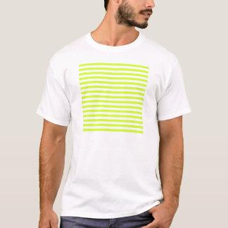 Rayures minces - blanches et jaune fluorescent t-shirt