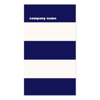 Rayures modernes de bleu marine et de blanc de han modèles de cartes de visite