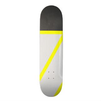Rayures modernes jaunes au néon noires artistiques planches à roulettes