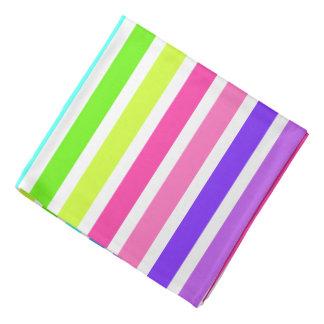 Rayures multicolores de sucrerie bandanas