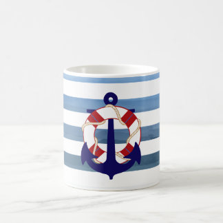 Rayures nautiques de PixDezines/ancre Mug