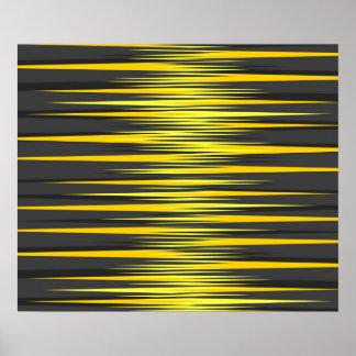 Rayures noires et jaunes affiches