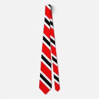 Rayures noires rouges sur le blanc cravates