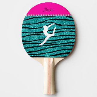 Rayures nommées de zèbre de scintillement de raquette tennis de table