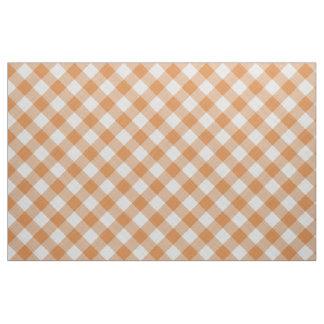Rayures oranges de guingan de cottage de pays tissu