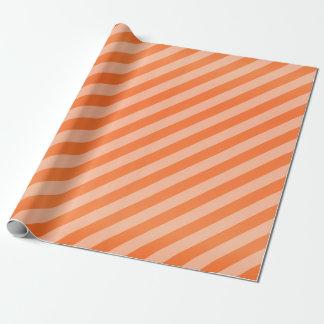 Rayures oranges et diagonales de citrouille papiers cadeaux