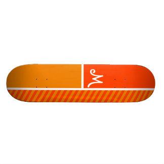 Rayures oranges ; Rayé Skateboards Customisés