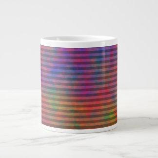 Rayures psychédéliques - résumé rayé coloré mugs extra larges