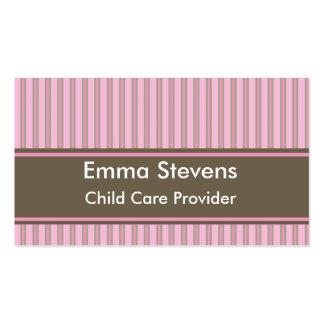 Rayures roses de Childcare, carte de visite Templ