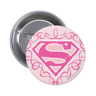 Rayures roses de Supergirl Pin's