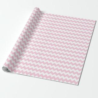 Rayures roses et blanches de bébé de zigzag de papiers cadeaux noël