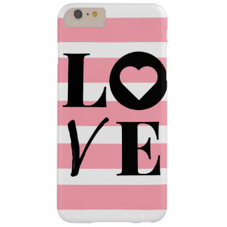 rayures roses et blanches de cas de l'iPhone 6/6s Coque Barely There iPhone 6 Plus