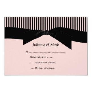 rayures roses et noires RSVP de 3.5x5 Carton D'invitation 8,89 Cm X 12,70 Cm