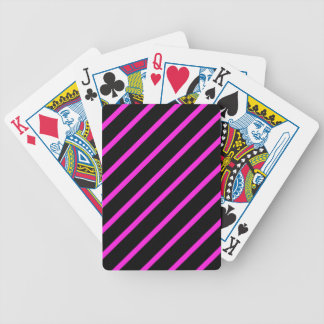 Rayures roses noires jeu de cartes