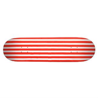 Rayures rouges et blanches de cirque de cabane skateboard old school 18,1 cm