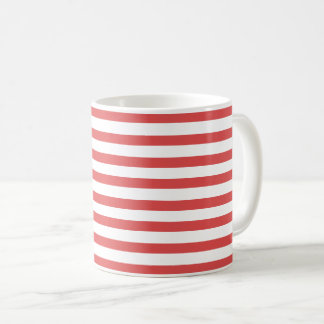 Rayures rouges et blanches de très bon goût - mug