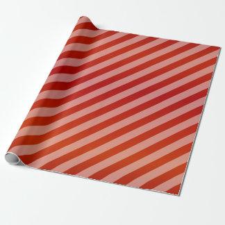 Rayures rouges et diagonales papier cadeau