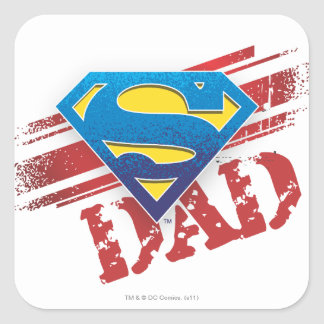 Rayures superbes de papa sticker carré