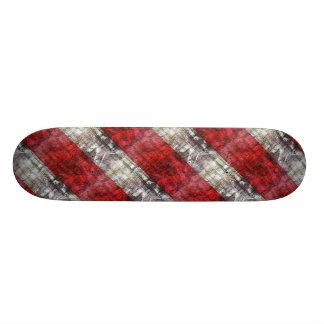 Rayures texturisées rouges et grises plateaux de skate