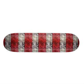 Rayures texturisées rouges et grises skateboard old school 18,1 cm