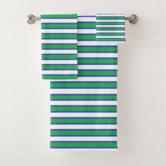 Rayures vertes, blanches et bleues