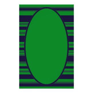 rayures vertes bleu-foncé prospectus en couleur