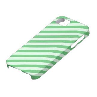 Rayures vertes moyennes [personnalisables] étui iPhone 5