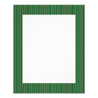 Rayures vertes simples prospectus en couleur
