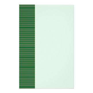 Rayures vertes simples prospectus 14 cm x 21,6 cm