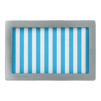 Rayures verticales bleues boucles de ceinture rectangulaires