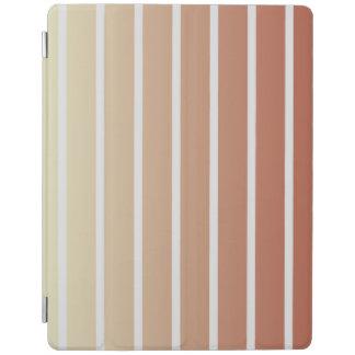 Rayures vintages beiges oranges protection iPad