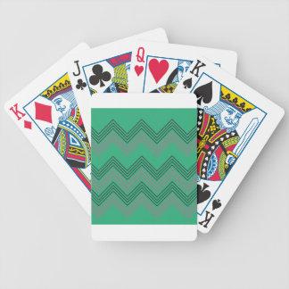 Rayures vintages de les années 50 de zigzag jeu de cartes