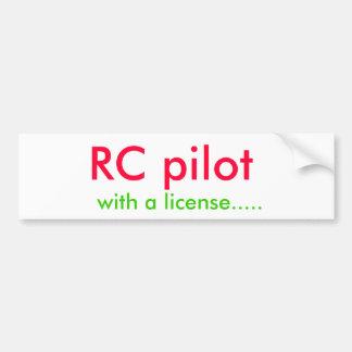 RC pilotent, avec un permis ..... Autocollant De Voiture