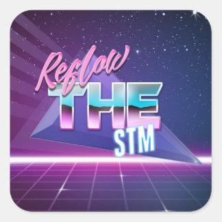 Ré-écoulement l'autocollant de STM Sticker Carré