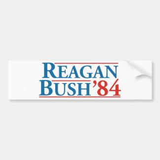Reagan Bush '84 Autocollant Pour Voiture