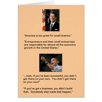 Reagan contre Obama Carte De Vœux