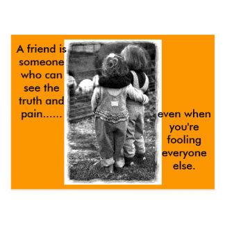 real_friends, ami d'A. Carte Postale