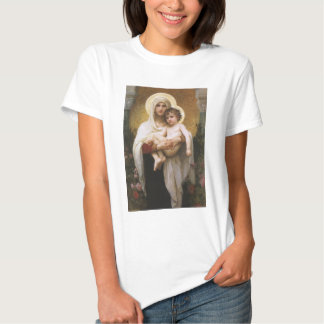 Réalisme vintage, Madonna des roses, Bouguereau T-shirt