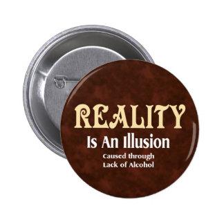 Réalité alcoolique badge