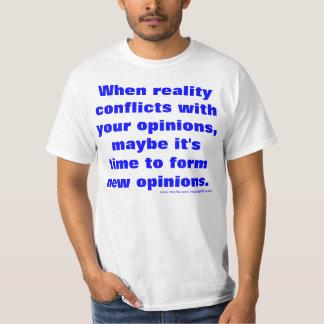 Réalité contre l'opinion, victoires de réalité t-shirt