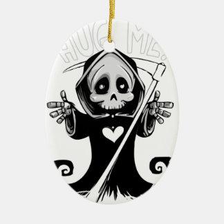 Reaper-bébé mignon de Reaper-bande dessinée de Ornement Ovale En Céramique