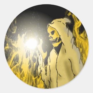 Reaper dans l'enfer (or) adhésifs ronds