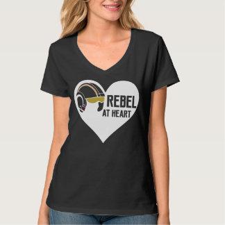 Rebelle au T-shirt nano de V-Cou de Hanes des