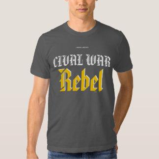 Rebelle de guerre civile t-shirts