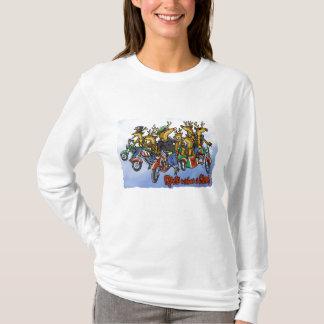 Rebelles sans bande dessinée de vacances de renne t-shirt