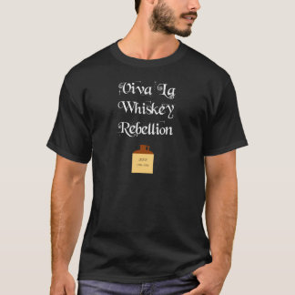 Rébellion de whiskey (texte blanc) t-shirt