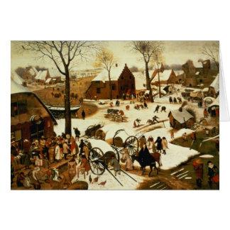 Recensement à Bethlehem, c.1566 Carte De Vœux