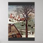 Recensement à Bethlehem, détail par Bruegel D. Ä.  Affiches