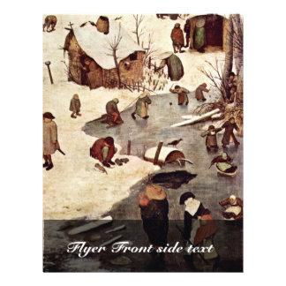 Recensement à Bethlehem, détail par Bruegel D. Ä.  Prospectus