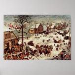 Recensement à Bethlehem par Bruegel D. Ä. Pieter Affiches